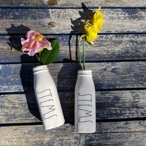Rae Dunn STEMS milk bottle flower vase farm decor